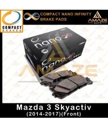 Compact Nano Infinity Brake Pad for Mazda 3 Skyactiv (14-17)(Front)