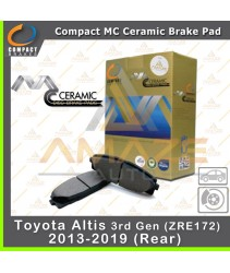 Compact MC Ceramic Brake Pad for Toyota Altis 3rd Gen ZRE172 (13 - 19) (Rear)