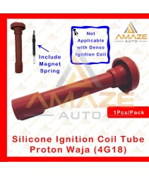 Silicone Ignition Plug Coil Tube with Magnet Spring - Proton Waja 1.6 (4G18)