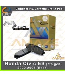 Compact MC Ceramic Brake Pad for Honda Civic ES 7th gen (00-05) (Rear)