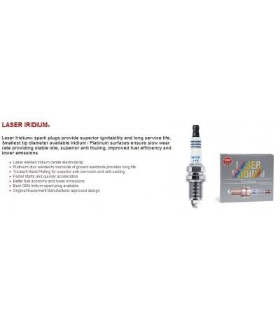 NGK Laser Iridium Spark Plug for Nissan Teana 2.5 L33 (2nd Gen) (2014-2018) (100,000KM Usage Life High Performance Spark Plug)