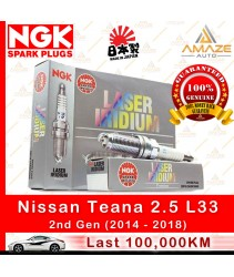 NGK Laser Iridium Spark Plug for Nissan Teana 2.5 L33 (2nd Gen) (2014-2018) (100,000KM Usage Life High Performance Spark Plug)