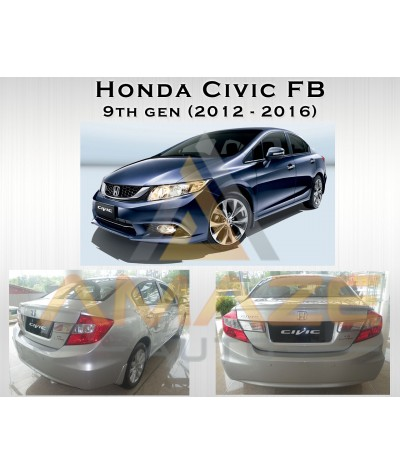 Compact MC Ceramic Brake Pad for Honda Civic FB 9th Gen (12-16) (Rear)