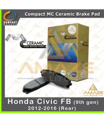 Compact MC Ceramic Brake Pad for Honda Civic FB 9th Gen (12-16) (Rear)