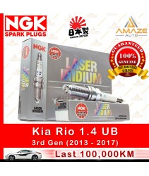 NGK Laser Iridium Spark Plug for Kia Rio 1.4 UB (3rd Gen) (100,000KM Usage Life High Performance Spark Plug)