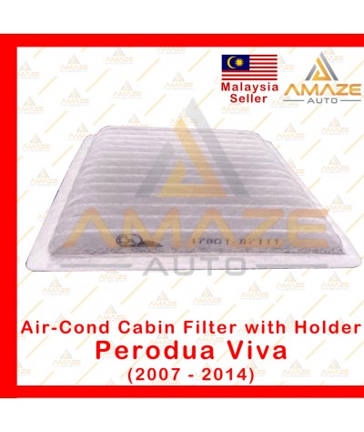 Air-Cond Cabin Filter with Holder for Perodua Viva (2007-2014) (Equals to OEM: 17801-87111)