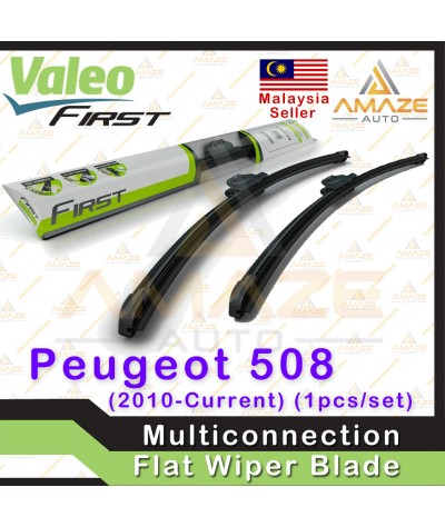 Valeo First Multiconnection Flat Wiper blade for Peugeot 508 (10-Current) (2pcs/set)