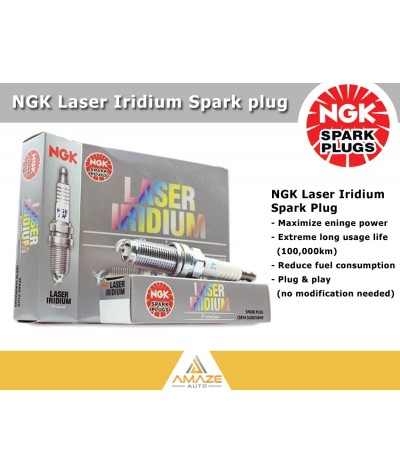 NGK Laser Iridium Spark Plug for BMW 3 Series 320i 2.0 (E90) - Longest Usage life and high performance