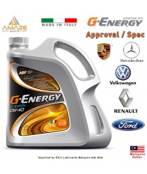 G-Energy F Synth 0W40 Fully-Synthetic Engine Oil (4L) SN/CF (Made in Italy) / Minyak Pelincir Enjin 0W40