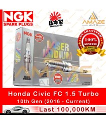 NGK Laser Iridium Spark Plug for Honda Civic FC 1.5 Turbo (10th Gen) (100,000KM Usage Life High Performance Spark Plug)(12290-59B-0030)