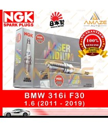 NGK Laser Iridium Spark Plug for BMW 316i F30 (2011-2019) - Longest Usage life and high performance