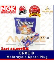 NGK Iridium IX Spark Plug CR8EIX - Last 15,000KM (Yamaha Y15Z, LC135, NOUVO 135LC, Cagiva Raptor, Kawasaki Ninja)