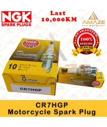 NGK G-Power Platinum Spark Plug CR7HGP - Last 10,000KM (Honda EX5, Wave, C70, Yamaha Nouvo LC125, Ego, Lagenda, Modenas Kriss, Suzuki Shogun, Smash)