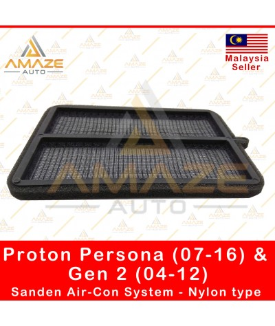 Air-Cond Cabin Filter for Proton Persona (07-16) & Gen 2 (04-12) Sanden Air Cond System - Nylon type (Reusable)