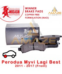 Musashi Winner Brake Pad (Copper Free NAO) for Perodua Myvi Lagibest 2011 - 2017 (Front)