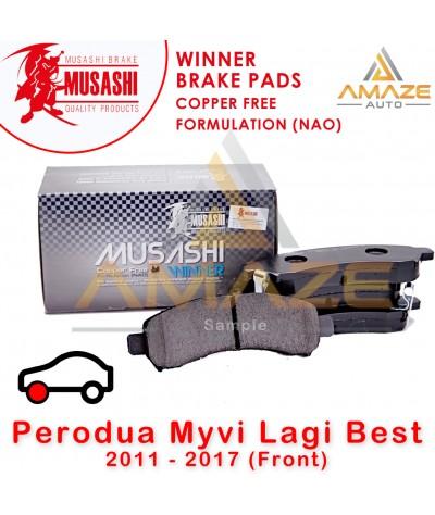Musashi Winner Brake Pad (Copper Free NAO) for Perodua Myvi Lagibest 2011 - 2017 (Front)