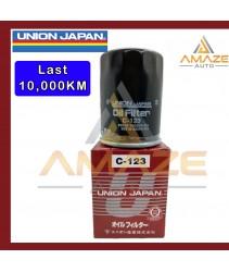 Union Japan Oil Filter C-123 (OEM : 90915-YZZE1, 90915-YZZE2, 04152-YZZA6)