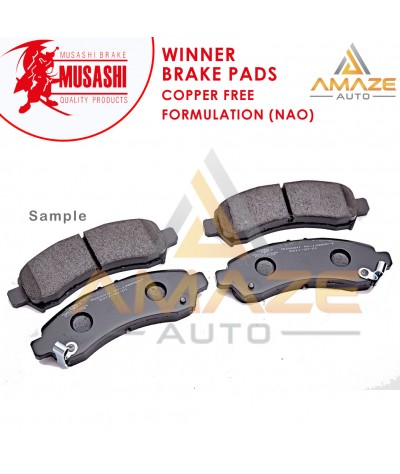 Musashi Winner Brake Pad (Copper Free NAO) for Perodua Bezza (2016-Current) (Front)