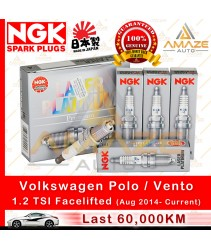 NGK Laser Platinum Spark Plug for Volkswagen Polo / Vento 1.2 TSI Facelifted (Aug 2018-Current) (4pcs/set)