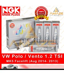 NGK Laser Platinum Spark Plug for Volkswagen Polo / Vento 1.2 TSI MK5 Facelift (Aug 2014-Current) (4pcs/set)