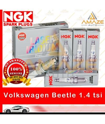 NGK Laser Iridium Spark Plug for Volkswagen Beetle 1.4 TSI A5 (2013-2014) - Longest Usage life and high performance
