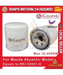 Koyoroki Performance Oil Filter for Mazda Skyactiv Model (Mazda 2, Mazda 3, Mazda 6, Biante, CX-3, CX-5) (Equals to PE01-14-302B)
