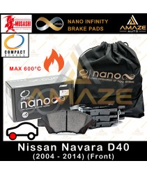 Compact Nano Infinity Brake Pad for Nissan Navara D40 (2004-2014) (Front) - Amaze Autoparts