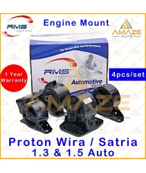 RMS Engine Mounting for Proton Wira / Satria 1.3 & 1.5 Auto (4pcs/set) - Amaze Auto Parts
