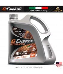 G-Energy Synthetic Far East 5W30 Fully-Synthetic Engine Oil (4L) SN - Energy Conserving / Minyak Pelincir Enjin 5W30