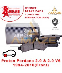 Musashi Winner Brake Pad (Copper Free NAO) for Proton Perdana 2.0 & 2.0 V6 (1st Gen) (Front)