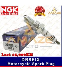 NGK Iridium IX Spark Plug DR8EIX - Last 15,000KM (Aprilia Pegaso, BMW F650, Honda GL, Yamaha YP250)