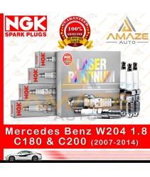 NGK Laser Platinum Spark Plug for Mercedes Benz C Class W204 1.8 C180 & C200 (2007-2014)