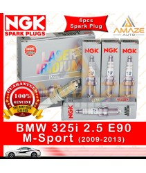 NGK Laser Iridium Spark Plug for BMW 325i 2.5 E90 M-Sport (2009-2013) (6pcs Spark Plug)