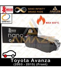 Musashi Nano Infinity Brake Pad for Toyota Avanza (2003-2015) (Front)