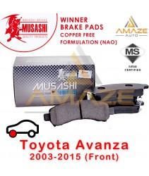 Musashi Winner Brake Pad (Copper Free NAO) for Kia Carnival / Naza Ria 2.5 V6 (1998 - 2010) (Front)