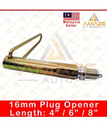 """16mm Spark Plug Opener / Pembuka Palam Pencucuh (Length: 4"""" / 6"""" / 8"""")"""