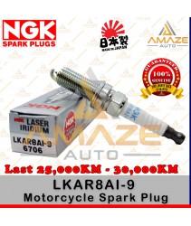 NGK Laser Iridium Spark Plug for Motorcycle LKAR8AI-9 (KTM Duke 200, 390, 990, Modenas Pulsar NS200, RS200)- Last 25,000KM - 30,000KM