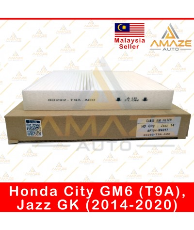 Air-Cond Cabin Filter for Honda City GM6 (T9A) & Jazz GK (2014-2020) (Equal to 80292-T9A-A00)