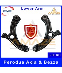 RMS Front Lower Control Arm for Perodua Axia (2014 - Current) & Bezza (2016-Current) (LH+RH) - 1 Year Warranty or 30,000KM