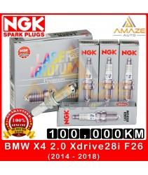 NGK Laser Iridium Spark Plug for BMW X4 2.0 Xdrive28i F26 (2014-2018) - Long Life Spark plug 100,000KM
