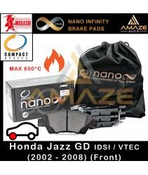 Compact Nano Infinity Brake Pad for Honda Jazz GD I-DSI / VTEC (2002-2008) (Front) - Amaze Autoparts