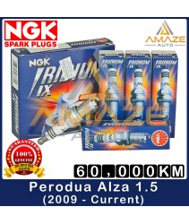 NGK Iridium IX Spark Plug for Perodua Alza 1.5 (2009 - Current) - Performance Spark Plug Last 60,000KM