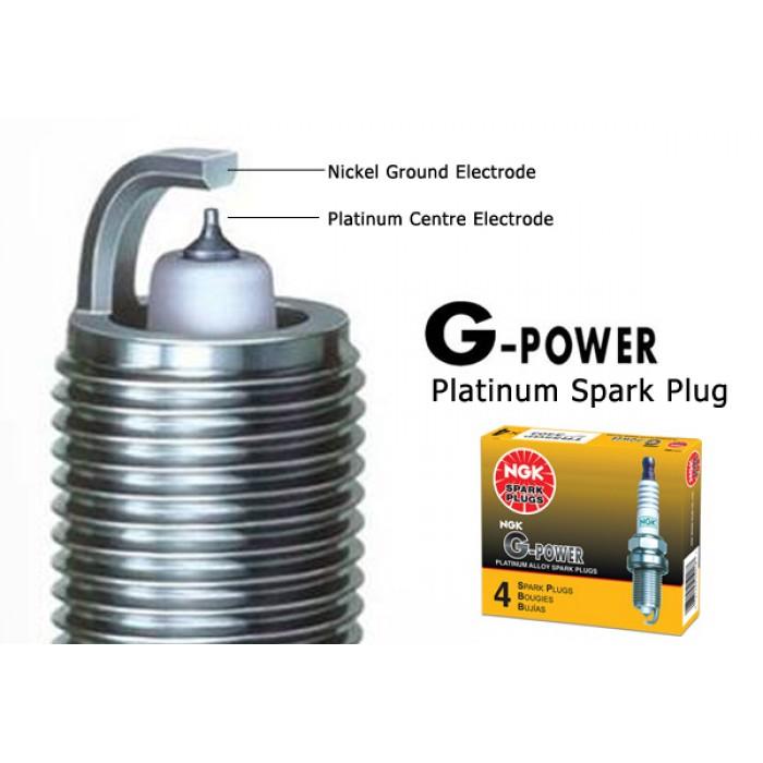 NGK G-Power Platinum Spark Plug for Proton Persona 1 6 (Campro)