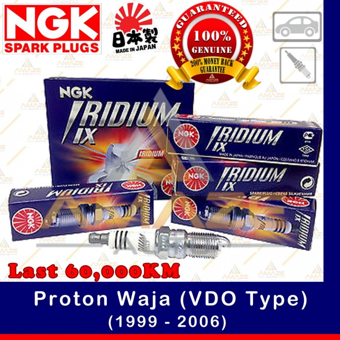 NGK Iridium IX Spark Plug for Proton Waja 1 6 & 1 8 (VDO Type)