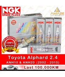 NGK Laser Iridium Spark Plug for Toyota Alphard 2.4 ANH10 (1st Gen) & ANH20 (2nd Gen) - (2002-2015)