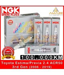 NGK Laser Iridium Spark Plug for Toyota Estima / Previa 2.4 ACR50 (3rd gen) (2006-2019) - Long Life Spark Plug 100,000KM