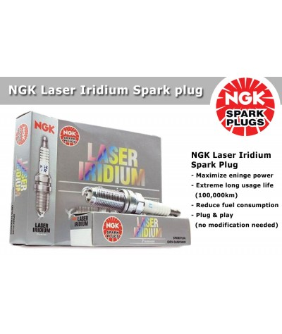 NGK Laser Iridium Spark Plug for Toyota Prius C 1.5 (Hybrid)
