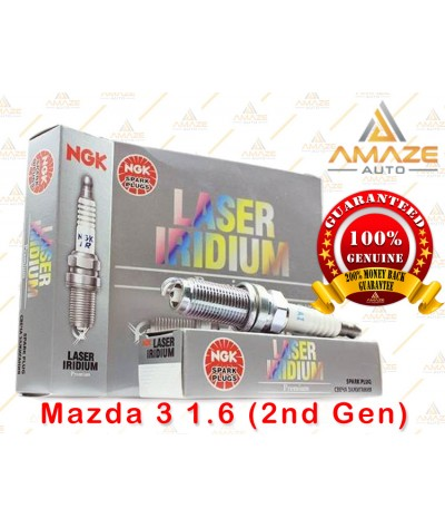 NGK Laser Iridium Spark Plug for Mazda 3 1.6 (2nd Gen)