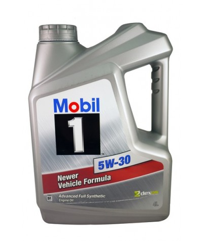 Mobil 1 Newer Vehicle Formula 5W30SN Advanced Fully-Synthetic Engine Oil - 4 Liters