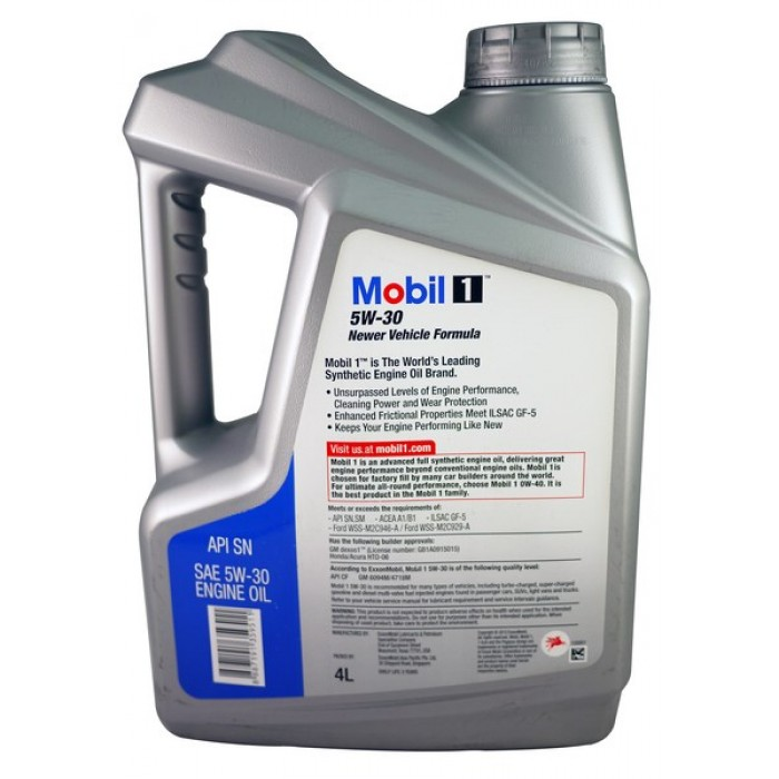 mobil 1 newer vehicle formula 5w30sn advanced fully synthetic engine oil 4 liters. Black Bedroom Furniture Sets. Home Design Ideas